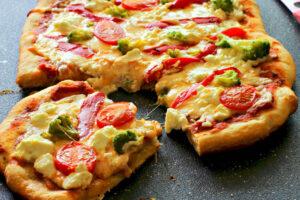 Pizza de vegetales sencilla con el Robot de cocina Thermomix
