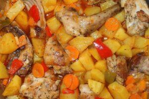 Conejo guisado con verduras con robot de cocina Cecotec Mambo