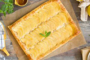 Tarta de manzana con hojaldre y crema pastelera con robot de cocina Thermomix